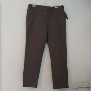Brown button up pants